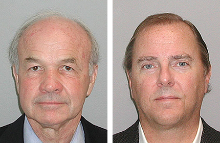 Mug shots of Ken Lay (left) and Jeff Skilling. Source: United States Marshals Service